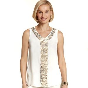 NWT Chico's Stunning Sparkles Stacy Tank